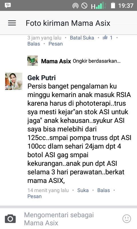 """""""anak masuk RSIA, anak dapat ASI selama 3 hari perawatan berkat Mama Asix"""""""